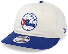 Philadelphia 76ers Retro Crown 9Fifty Stone/Blue Snapback - New Era