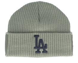 Los Angeles Dodgers Utility Cuff Knit Olive Green/Black Short Beanie - New Era