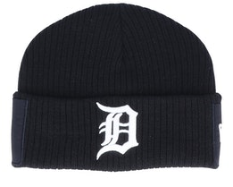 Detroit Tigers Utility Cuff Knit Black/White Short Beanie - New Era