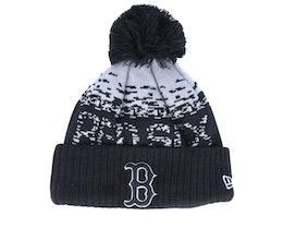 Boston Red Sox Sport Knit Black/Grey Pom - New Era
