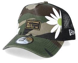 Military Flower Green Camo Trucker - New Era