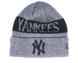 New York Yankees Marl Knit Dark Grey/Black Cuff - New Era
