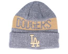 Los Angeles Dodgers Marl Knit Dark Grey/Khaki Cuff - New Era
