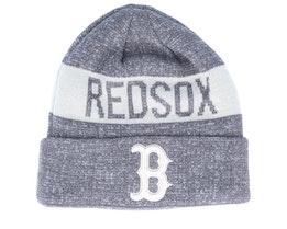Boston Red Sox Marl Knit Dark Grey/White Cuff - New Era