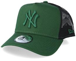 New York Yankees League Essential A-Frame Green/Black Trucker - New Era