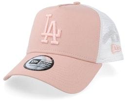Los Angeles Dodgers League Essential A-Frame Light Pink/White Trucker - New Era