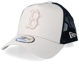 Boston Red Sox League Essential A-Frame Light Beige/Black Trucker - New Era