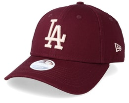 Los Angeles DodgersWomen's League Essential 9Forty Maroon/Pink Adjustable - New Era
