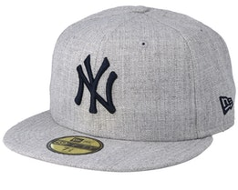 New York Yankees 59Fifty Heather Gray/Navy Fitted - New Era