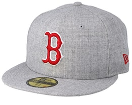 Boston Red Sox 59Fifty Heather Gray/Red Fitted - New Era