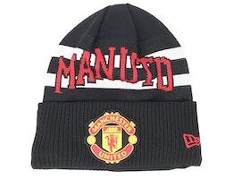 Manchester United Fall 19 Team Knit Black/White/Red Cuff - New Era