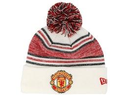 Manchester United Fall 19 Bobble Cuff White/Red Pom - New Era