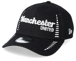 Manchester United Fall 19 Script Pattern 3 Black Flexfit - New Era