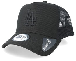 Los Angeles Dodgers Diamond Era A-Frame Black Trucker - New Era