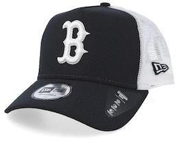 Boston Red Sox Diamond Era A-Frame Navy/White Trucker - New Era