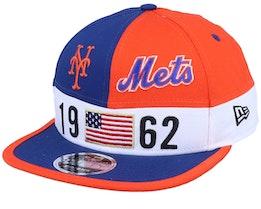 New York Mets Colour Block Lg 9fifty Blue/Orange Snapback - New Era