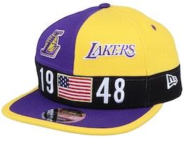 LA Lakers Colour Block Lg 9Fifty Purple/Yellow Snapback - New Era