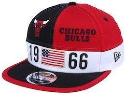 Chicago Bulls Black Lg 9Fifty Black/Red Snapback - New Era