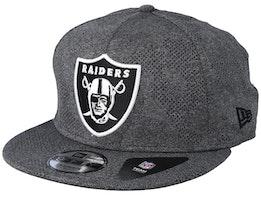 Oakland Raiders 9FIfty Engineered Plus Dark Grey Snapback - New Era