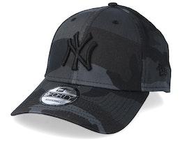 New York Yankees Camo Essential 9Forty Black Camo/Black Adjustable - New Era