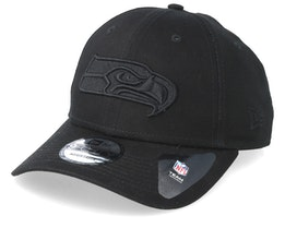Seattle Seahawks 9Forty Black/Black Adjustable - New Era