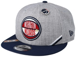 Washington Wizards NBA 19 Draft 9Fifty Heather Grey/Navy Snapback - New Era