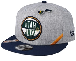 Utah Jazz NBA 19 Draft 9Fifty Heather Grey/Navy Snapback - New Era