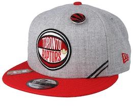Toronto Raptors 19 NBA 9Fifty Draft Heather Grey/Red Snapback  - New Era