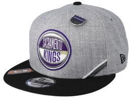Sacramento Kings 19 NBA 9Fifty Draft Heather Grey/Black Snapback  - New Era