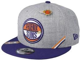 Phoenix Suns 19 NBA 9Fifty Draft Heather Grey/Purple Snapback  - New Era