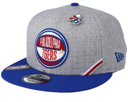 Philadelphia 76ers 19 NBA 9Fifty Draft Heather Grey/Royal Snapback  - New Era