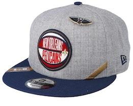 New Orleans Pelicans 19 NBA 9Fifty Draft Heather Grey/Navy Snapback  - New Era