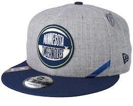 Minnesota Timberwolves 19 NBA 9Fifty Draft Heather Grey/Navy Snapback  - New Era