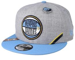Memphis Grizzlies 19 NBA 9Fifty Draft Heather Grey/Light Blue Snapback  - New Era