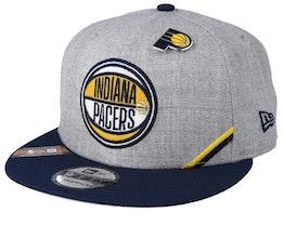 Indiana Pacers 19 NBA 9Fifty Draft Heather Grey/Black Snapback  - New Era