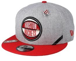 Houston Rockets 19 NBA 9Fifty Draft Heather Grey/Red Snapback  - New Era