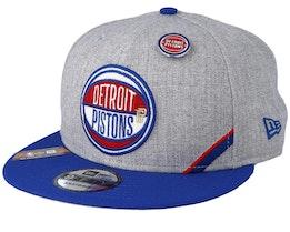 Detroit Pistons 19 NBA 9Fifty Draft Heather Grey/Royal Snapback  - New Era
