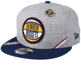 Denver Nuggets 19 NBA 9Fifty Draft Heather Grey/Navy Snapback  - New Era