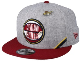 Cleveland Cavaliers 19 NBA 9Fifty Draft Heather Grey/Maroon Snapback  - New Era