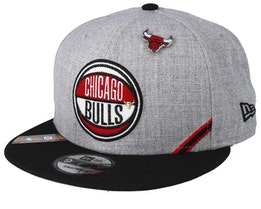 Chicago Bulls 19 NBA 9Fifty Draft Heather Grey/Black Snapback  - New Era