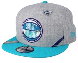 Charlotte Hornets 19 NBA 9Fifty Draft Heather Grey/Teal Snapback  - New Era