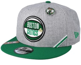 Boston Celtics 19 NBA 9Fifty Draft Heather Grey/Green Snapback  - New Era