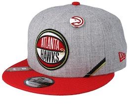 Atlanta Hawks 19 NBA 9Fifty Draft Heather Grey/Red Snapback  - New Era