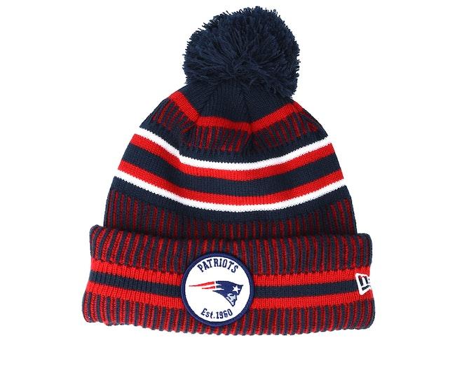 New England Patriots On Field 19 Sport Knit 2 Navy/Red Pom - New Era