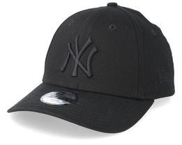 Kids New York Yankees League Essential 9Forty Black/Black Adjustable - New Era