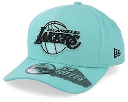 LA Lakers Hard Neon 9Fifty Light Blue Snapback - New Era