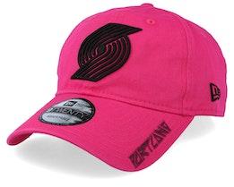 Portland Trail Blazers Hard Neon 9Forty Pink/Black Adjustable - New Era