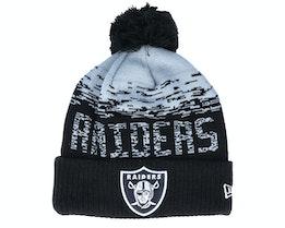 Las Vegas Raiders NFL Sport Knit Cuff Black/Grey Pom - New Era