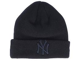 New York Yankees Essential Knit Black/Black Cuff - New Era