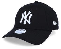 New York Yankees Essential Womens 9Forty Black/White Adjustable - New Era